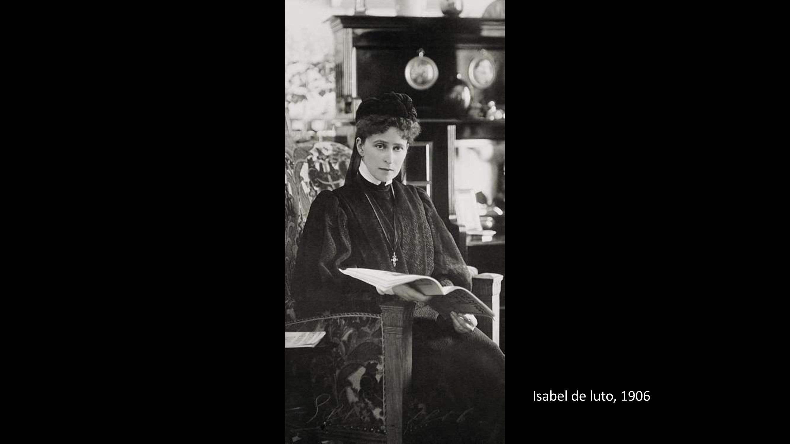 [14] Isabel de luto, 1906