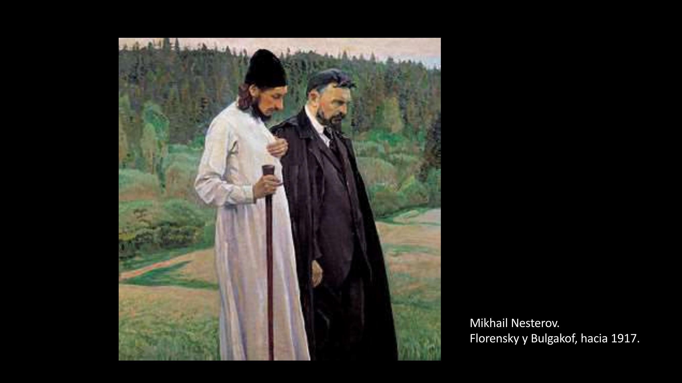 [17] Mikhail Nesterov, Florensky y Bulgakof