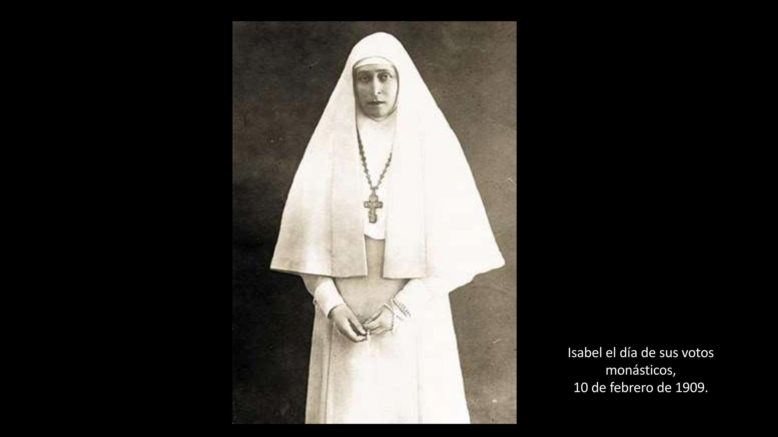 [20] Isabel en el día de sus votos monásticos