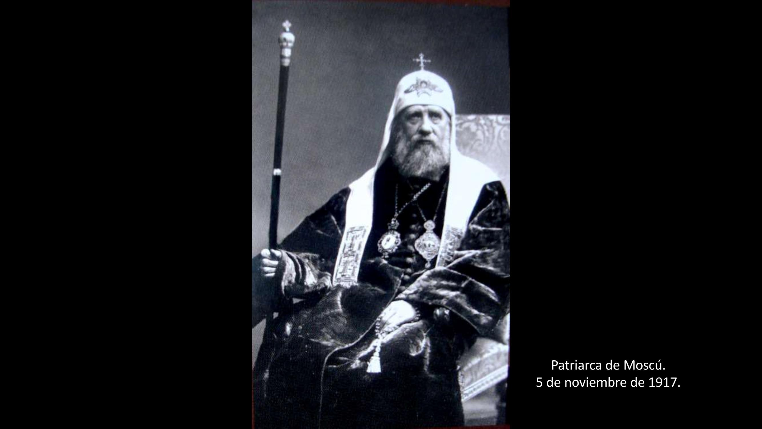 [26] Patriarca de Moscú, 1917