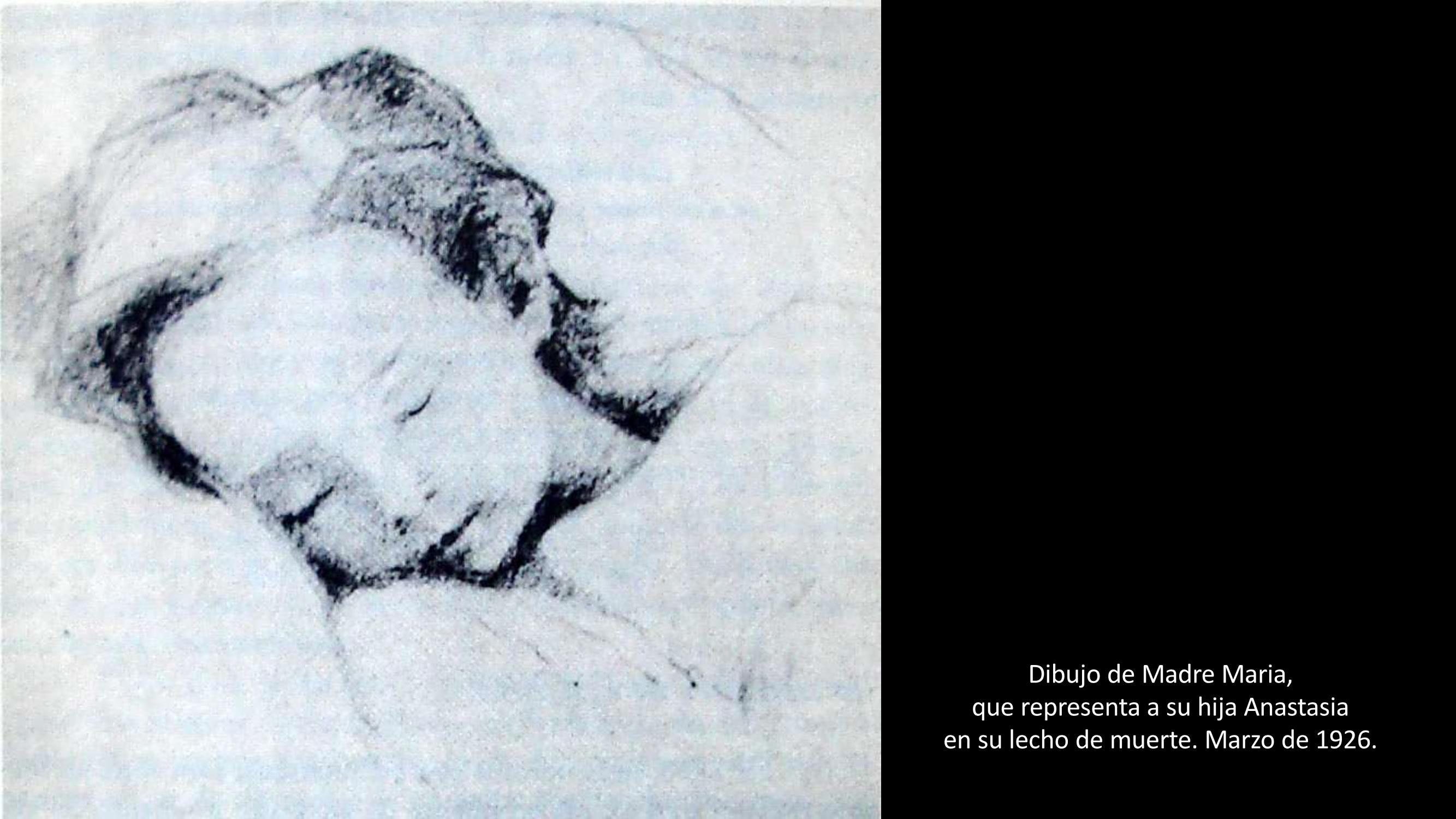[37] Pintura de Madre María, que representa a su hija Anastasia en su lecho de muerte